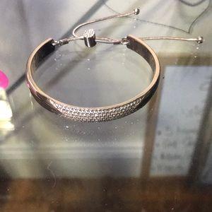 Rose Gold Bracelet w/ Embellished Drawstring